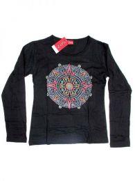Camiseta de algodón Mod Negro