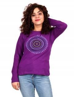 T-shirt long avec imprimé mandala [CAEV14]. T-shirts à manches longues pour acheter en gros ou en détail dans la catégorie des vêtements hippie pour femmes.