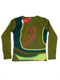 Camisetas de Manga Larga - Camiseta de algodón CAEV14B - Modelo Verde