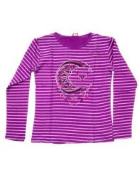 Striped T-shirt with Embroidered Moon CAEV17 to buy wholesale or detail in the Handicrafts category.