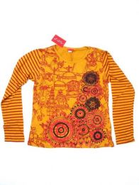Camisetas de Manga Larga - Camiseta con manga larga de CAEV19 - Modelo Naranja