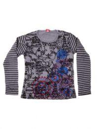 Camiseta con Bordados y estampado Tibet, para comprar al por mayor o detalle  en la categoría de Bisutería y Plata Hippie Étnica Alternativa | ZAS Tienda Online.[CAEV19]