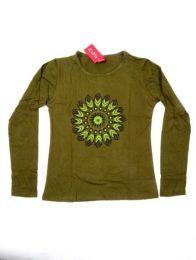 Camiseta con manga larga con Mod Verde