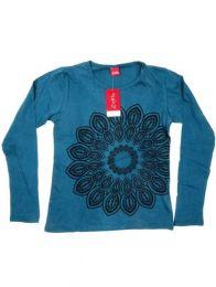 Camiseta con manga larga con Mod Azul