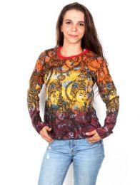 Camiseta Shiva Tie Dye Tricolor CAEV23 para comprar al por mayor o detalle  en la categoría de Ropa Hippie de Mujer   ZAS Tienda Alternativa.