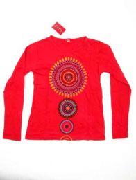 Camiseta de manga larga con Mod Rojo