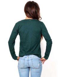 Camiseta de manga larga decorada detalle del producto