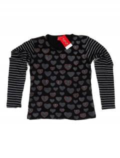 Camisetas de Manga Larga - Camiseta de algodón CAEV27 - Modelo Negro