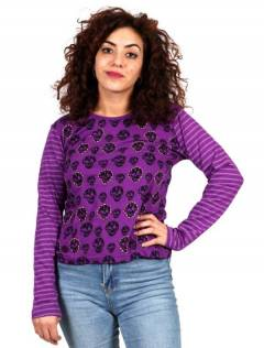 Skulls T-shirt [CAEV28]. Long Sleeve T-shirts to buy wholesale or detail in the Hippie Clothing for Women category.