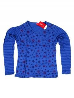 Camisetas de Manga Larga - Camiseta de algodón CAEV29 - Modelo Azul