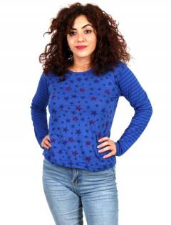Stars T-shirt [CAEV29]. Long Sleeve T-shirts to buy wholesale or detail in the category of Hippie Women's Clothing | ZAS Alternative Store.