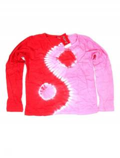 Camiseta Ying Yang Tie Dye CAEV30 para comprar al por mayor o detalle  en la categoría de Outlet Hippie Étnico Alternativo.