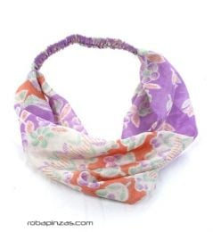 Printed silk headband, elastic at the back. They are, to buy wholesale or detail in the category of Hippie Women's Clothing | ZAS Alternative Store. [CEHC04]