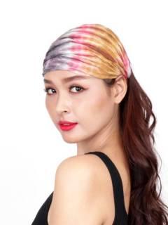 Cinta-Banda Tie Dye ancha con elástico para comprar al por mayor o detalle  en la categoría de Accesorios de Moda Hippie Bohemia | ZAS  [CEPN02] .