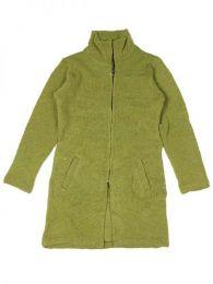 Abrigo largo de lana Alternativo. Mod Verde