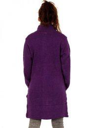 Abrigo largo de lana Alternativo. detalle del producto