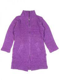 Abrigo largo de lana Alternativo. Mod Morado