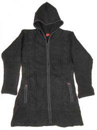 Abrigo de lana ochos Alternativo. Mod Negro