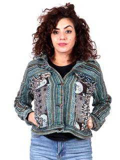 CHEV21 Ethnic Denim Jacket to buy wholesale or detail in the category of Hippie Women's Clothing | ZAS Alternative Store.
