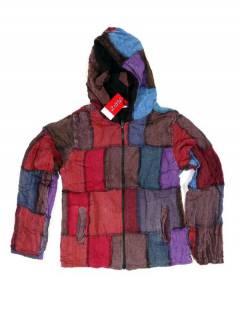 Chaqueta patchwork con capucha CHEV26 para comprar al por mayor o detalle  en la categoría de Complementos Hippies Alternativos.
