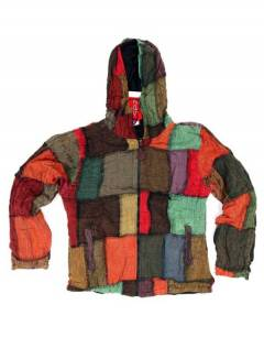CHEV26 hooded patchwork jacket to buy wholesale or detail in the Alternative Hippie Accessories category.