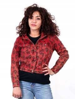 Jackets and Coats - Skull Denim Jacket [CHEV26B] to buy wholesale or detail in the category of Hippie Clothing for Women.
