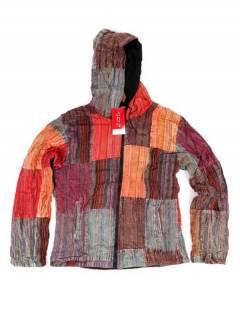 Chaqueta patchwork de rayas lavada a la piedra CHEV27 para comprar al por mayor o detalle  en la categoría de Complementos Hippies Alternativos.