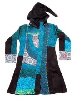 Chaquetas/ Abrigos - Chaquetón patchwork capucha desmontable [CHEV45] para comprar al por mayor o detalle  en la categoría de Ropa Hippie Alternativa para Mujer.