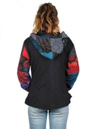 Chaqueta hippie patchwork. detalle del producto