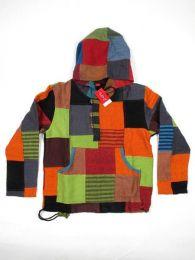 Sudadera hippie patchwork. detalle del producto