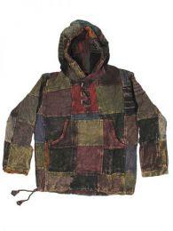 Sudaderas - Abrigos - Sudadera hippie patchwork. CHHC32 - Modelo Negro
