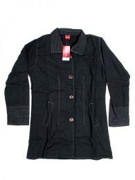 Chaquetas/ Abrigos - Abrigo de algodón con CHHC35 - Modelo Negro