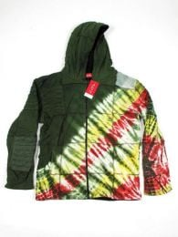 Chaqueta hippie de algodón Mod Verde