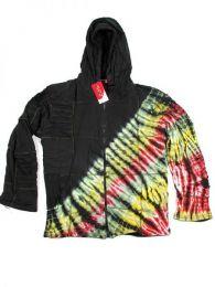 Chaqueta hippie de algodón Mod Negro