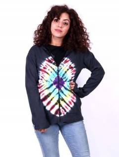 Hippie Tie Dye Front Hoodie CHHC42 para comprar atacado ou detalhe na categoria Hippie Clothing for Women.