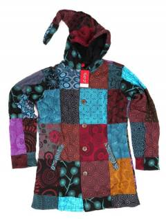 Printed patchwork hippie coat. CHHC43 to buy wholesale or detail in the Alternative Hippie Accessories category.