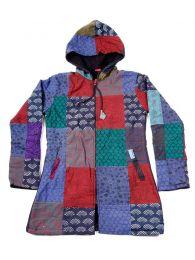 Chaquetas/ Abrigos - Abrigo de parches loneta diseño CHHC45 - Modelo Azul