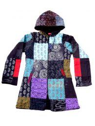 Chaquetas/ Abrigos - Abrigo de parches loneta diseño CHHC45 - Modelo Negro