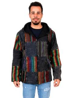 Stonewashed Patchwork Hippie Jacket to buy wholesale or detail in the Hippie and Alternative Clothing for Men category | ZAS Hippie Store [CHHC50].