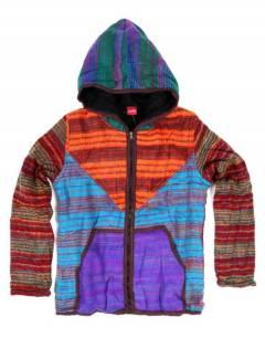 Chaqueta de invierno de rayas lavada a la piedra CHHC51 para comprar al por mayor o detalle  en la categoría de Complementos Hippies Alternativos.