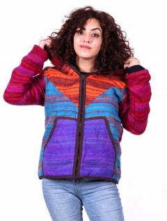 Stonewashed striped winter jacket, to buy wholesale or detail in the category of Hippie Women's Clothing | ZAS Alternative Store. [CHHC51]