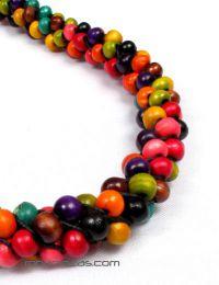 Cinto de bolas de colores detalle del producto