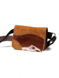 Leather fanny pack with wild print, to buy wholesale or detail in the Hippie and Alternative Clothing category for Men | ZAS Hippie Store. [CIGO01]