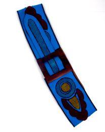 cinturón brocado, Mod Azul