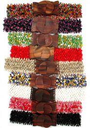 cinturón cuentas colores. detalle del producto