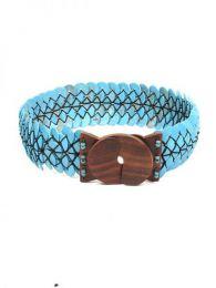 Cinturón ancho de estilo Mod Azul