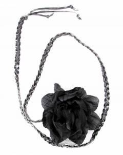 Cinturones Llaveros - cinturón flor de tela, CIPO01 - Modelo Marrón