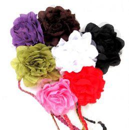 cinturón flor de tela, detalle del producto