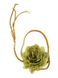 Fabric flower belt, with finished braided PA leather cord, to buy wholesale or detail in the Bohemian Hippie Fashion Accessories category | ZAS. [CIPO01]