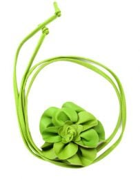 cinturón flor cuero Mod Verde